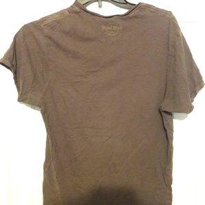 Shirts - Hard Rock Cafe - gray short-sleeved v-neck